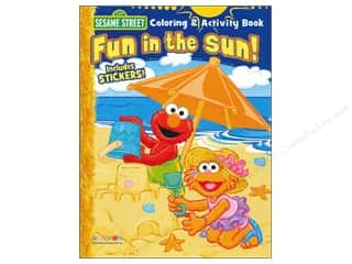 Books Clearance $0-$5: Activity Book with Stickers Sesame Street