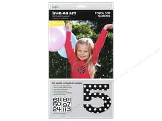 Creative Iron, The $5 - $9: SEI Iron On Numbers Polka Dot Black