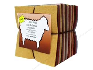 National Non Wovens Wool Fabrics: National Nonwovens Charm Pack 100% WoolFelt Rustic