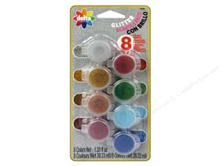 Paints: Delta Ceramcoat Paint Pot Set Glitter - 8 Colors