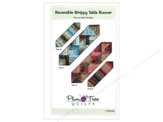 Quilted Trillium, The Table Runner & Kitchen Linens Patterns: Plum Tree Quilts Reversible Strippy Table Runner Pattern