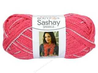 Cabbage Rose $9 - $10: Red Heart Boutique Sashay Yarn 3.5 oz. Sparkle Salmon