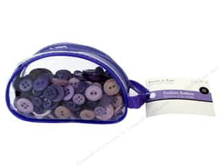 Multi's Embellishment  Yarn Sewing & Quilting: Fashion Buttons Viola 3 oz.