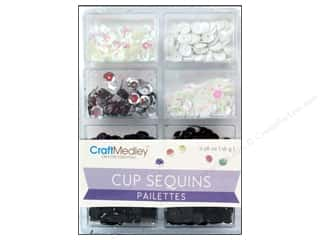 Sequins Black: Craft Medley Cup Sequins 7 mm Classic