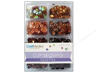 Multi's Embellishment  Yarn 7mm: Craft Medley Cup Sequins 7 mm Box Of Chocolate
