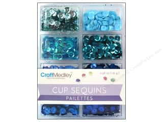 Multi's Embellishment  Yarn New: Craft Medley Cup Sequins 7 mm Rhythm N Blues