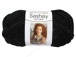 Sequins Black: Red Heart Boutique Sashay Yarn 3.5 oz. Sequin Caviar
