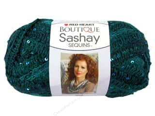 Sequins Green: Red Heart Boutique Sashay Yarn 3.5 oz. Sequin Fiji