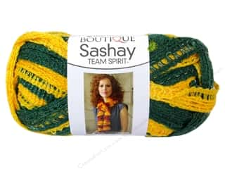 Polyester / Acrylic / Poly Blend Yarns: Red Heart Boutique Sashay Team Spirit Yarn 3.5 oz. Green/Gold