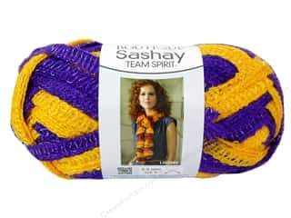 fingering yarn: Red Heart Boutique Sashay Team Spirit Yarn 3.5 oz. Purple/Gold