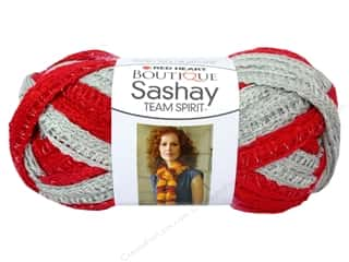 Red Heart Boutique Sashay Team Spirit: Red Heart Boutique Sashay Team Spirit Yarn #0988 Red/Grey 30 yd.