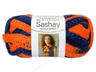 shimmer yarn: Red Heart Boutique Sashay Team Spirit Yarn #0960 Orange/Navy 30 yd.