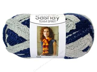 fingering yarn: Red Heart Boutique Sashay Team Spirit Yarn 3.5 oz. Navy/Grey