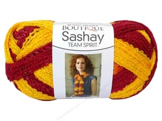 Metal Burgundy: Red Heart Boutique Sashay Team Spirit Yarn 3.5 oz. Burgundy/Gold