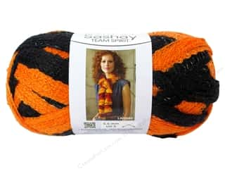 School Black: Red Heart Boutique Sashay Team Spirit Yarn 3.5 oz. Orange/Black