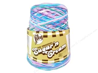 worsted weight yarn: Lily Sugar 'n Cream Yarn Cone 14 oz. #02316 Beach Ball Blue
