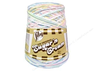 Sugar and Cream Sugar 'n Cream Yarn Cone 14 oz: Lily Sugar 'n Cream Yarn Cone 14 oz. #02199 Pretty Pastels