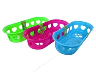 Hearts Basic Components: Activity Basket Oval With Heart 11 3/4 x 5 in. Assorted (36 pieces)
