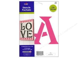 "ABC & 123 Papers: Plaid Stencil Paper Alphabet 5"" Sinbad"