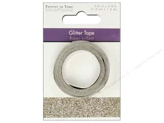 "Multi's Embellishment  Yarn Glues/Adhesives: Multicraft Adhesive Tape Glitter 5/8"" Champagne 3.9ft"