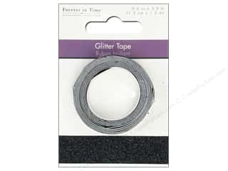 "Multicraft Adhesive Tape Glitter 5/8"" Black 3.9ft"