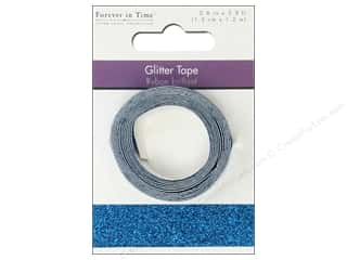 "Multicraft Adhesive Tape Glitter 5/8"" Turq 3.9ft"