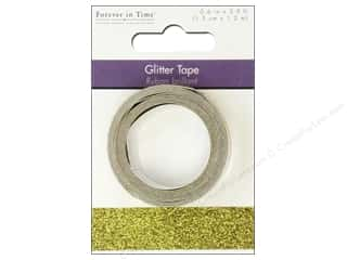 "Glues, Adhesives & Tapes Glitter: Multicraft Adhesive Tape Glitter 5/8"" Gold 3.9ft"
