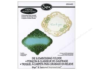 Sizzix: Sizzix Bigz Die with Bonus Textured Impressions Labels
