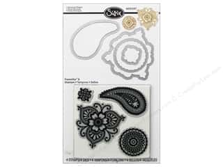 Sizzix Framelits Die Set 4 PK with Stamps Moroccan Flowers