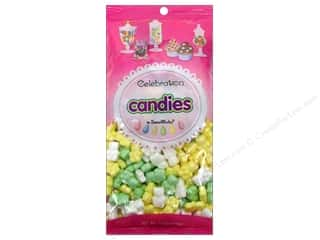 Cooking/Kitchen Party & Celebrations: SweetWorks Celebration Candies 12 oz. Bears Yellow/Green/White