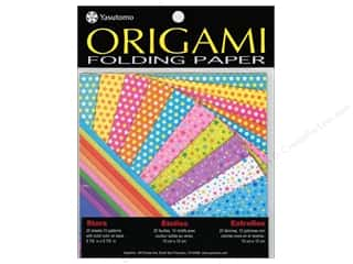 "Papers $5 - $10: Yasutomo Fold Ems Origami Paper 5.88"" Stars 20pc"