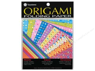 "Papers $5 - $10: Yasutomo Fold Ems Origami Paper 5.88"" Hearts 20pc"