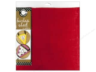 Fabric Canvas Corp Sheet 12 x 12 in: Canvas Corp Burlap Sheet 12 x 12 in. Red (10 pieces)