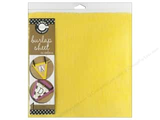 Canvas Corp Sheet 12x12 Burlap Yellow (10 piece)