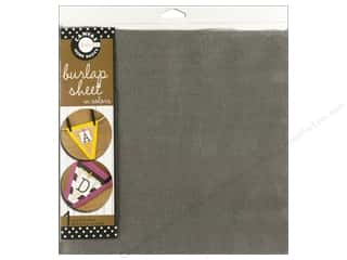 Fabric Canvas Corp Sheet 12 x 12 in: Canvas Corp Burlap Sheet 12 x 12 in. Grey (10 pieces)
