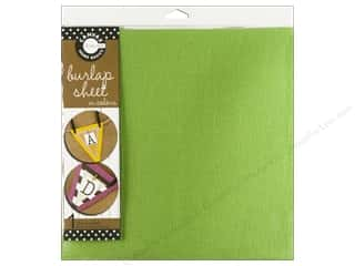 Fabric Canvas Corp Sheet 12 x 12 in: Canvas Corp Burlap Sheet 12 x 12 in. Green (10 pieces)