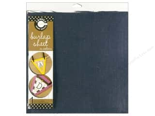 Canvas Corp Burlap Sheet 12 x 12 in. Denim (10 piece)