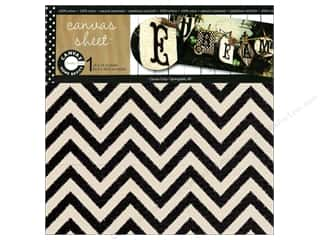 Canvas Bazzill: Canvas Corp Sheet 12x12 Printed Canvas Chevron (10 piece)