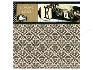 Canvas Bazzill: Canvas Corp Sheet 12x12 Printed Canvas Damask (10 piece)