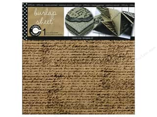 Canvas Corp Sheet 12x12 Printed Burlap French Script (10 piece)