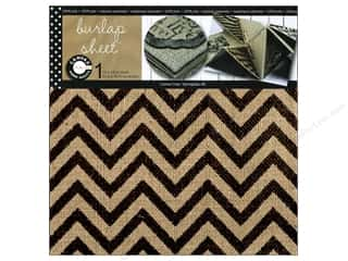 Canvas Corp Sheet 12x12 Printed Burlap Chevron (10 piece)
