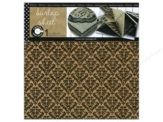 Canvas Corp Sheet 12x12 Printed Burlap Damask (10 piece)