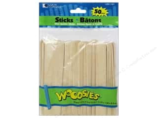 Wood Length: Woodsies Craft Sticks Mini Jumbo 50 pc.