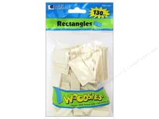 Forster: Woodsies Wood Shapes Rectangles 130 pc.