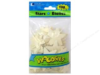 Zodiac/Celestial Home Decor: Woodsies Wood Shapes Stars 130 pc.