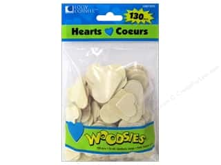 Anniversaries $1 - $2: Woodsies Wood Shapes Hearts 130 pc.