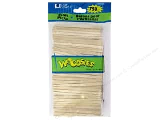 Kids Crafts $3 - $4: Woodsies Craft Picks 3 1/2 in. 750 pc.
