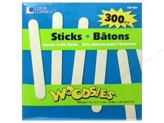 2013 Crafties - Best All Around Craft Supply: Woodsies Craft Sticks Jumbo 300 pc.