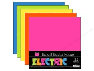 Bazzill Multi Pack Cardtsock 12x12 Electric 25pc