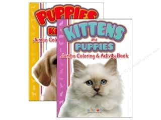 Jumbo Coloring & Activity Book Puppies and Kittens Assorted